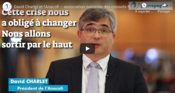 David Charlet, Anacofi : « nos professionnels ne sont pas la cause de la crise. Mais ils font partie de la solution »