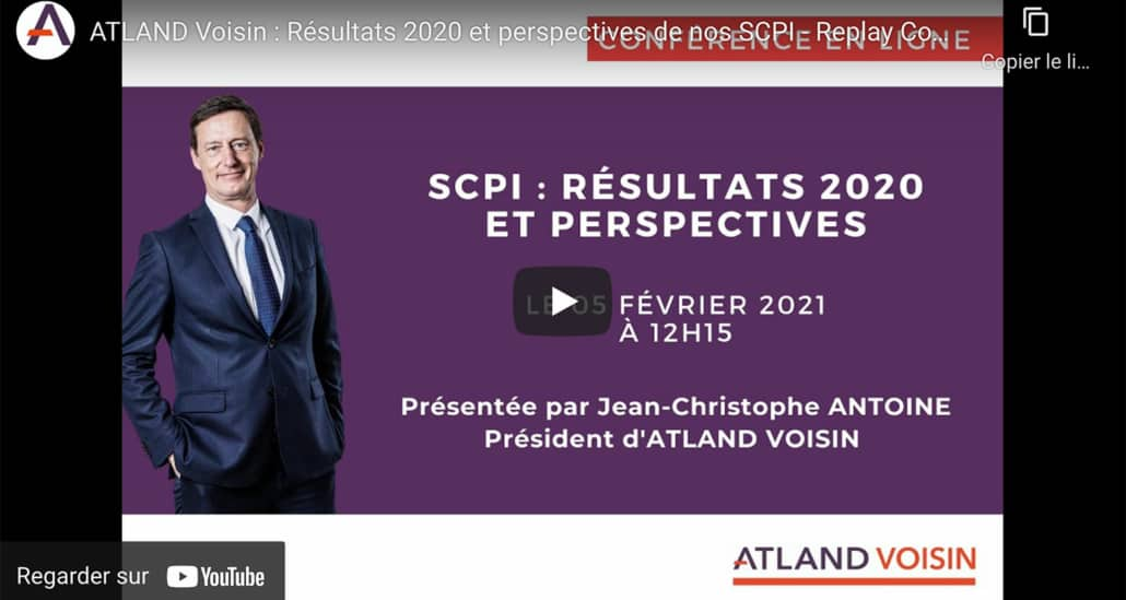 """Le """"Replay"""" : Altand Voisin, performances SCPI 2020 et perspectives"""
