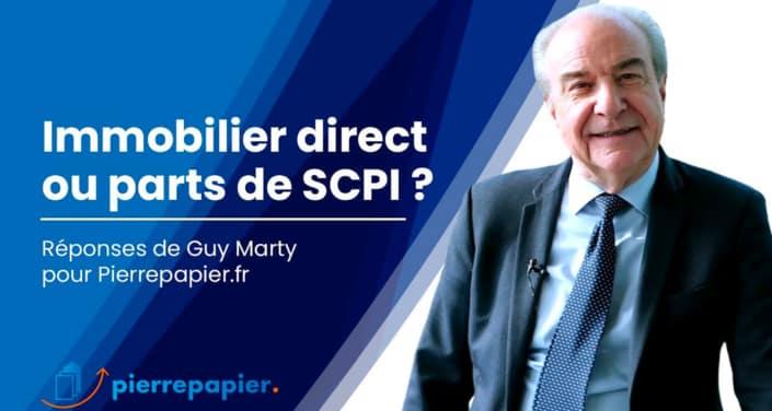 Immobilier en direct ou en parts de SCPI ?