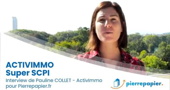 Pauline Collet, Alderan : « ActivImmo est une SCPI à la fois différenciante, performante et innovante. »
